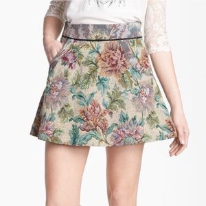 Free People floral tapestry skirt